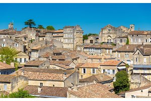 Cityscape of Saint-Emilion town, a UNESCO heritage site in France