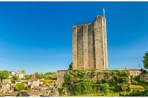 Tour du Roi or Kings Tower in Saint Emilion, France
