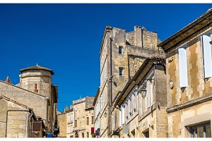 Buildings in Saint-Emilion, a UNESCO heritage site in France