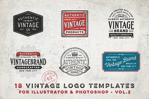 VINTAGE LOGO TEMPLATES vol. 2