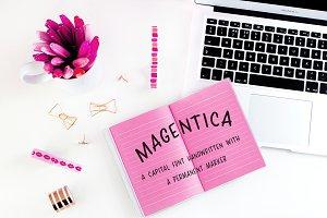 Magentica Caps Font + Capital Worksh