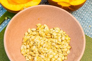 Preparing pumpkin seeds