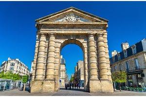 Porte d'Aquitaine, a XVIII century gate in Bordeaux, France