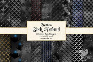 Black Mermaid Scale Patterns