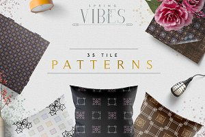 [Spring Vibes] 35 Tile Patterns -50%