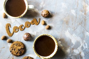 The word cocoa and cocoa powder