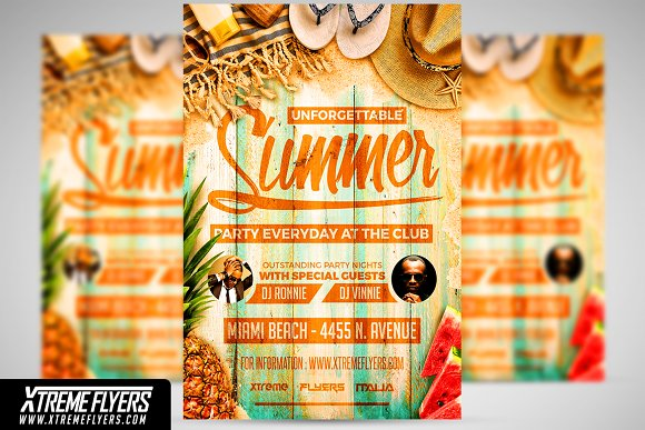 summer flyer template flyer templates creative market
