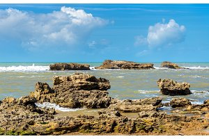 Atlantic shore at Essaouira, Morocco