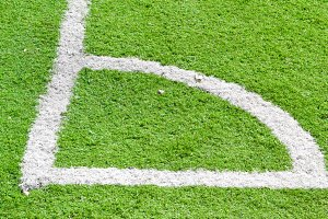 corner line on a football field