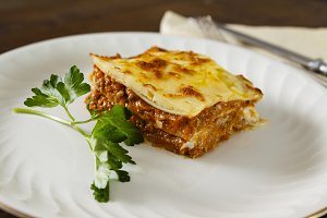 Homemade meat lasagna