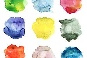 color watercolor blot
