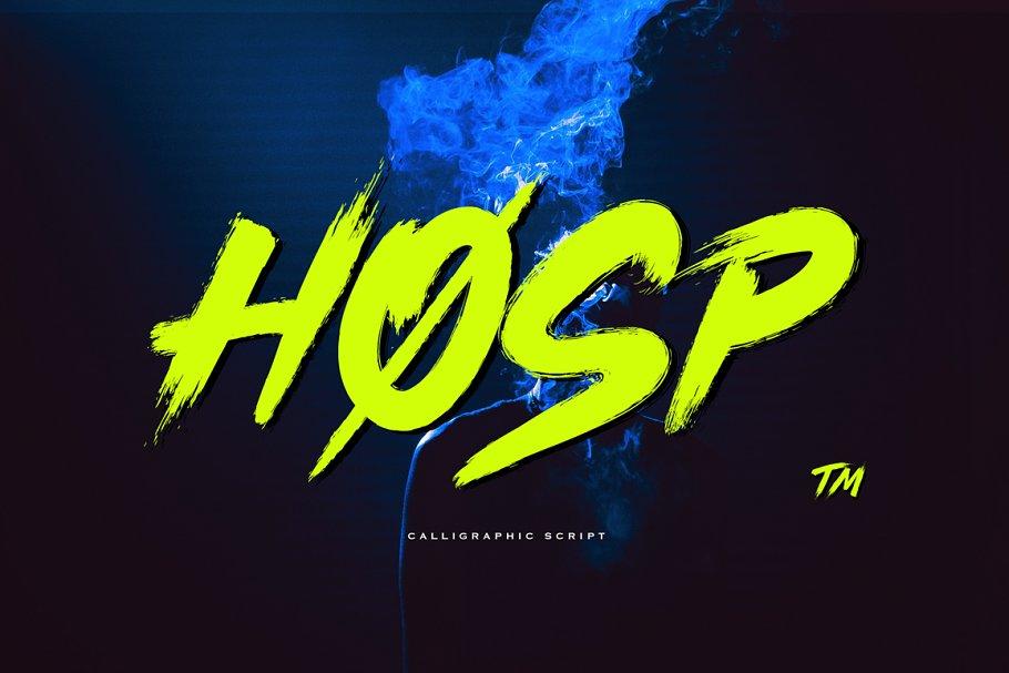 Hosp Brush Font
