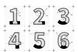 Architectural sketches of numbers