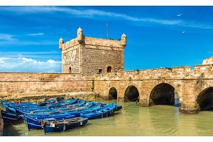 Sqala du Port, a defensive tower in Essaouira, Morocco