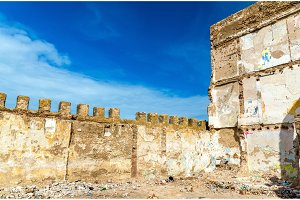 Architecture of old Essaouira town, Morocco