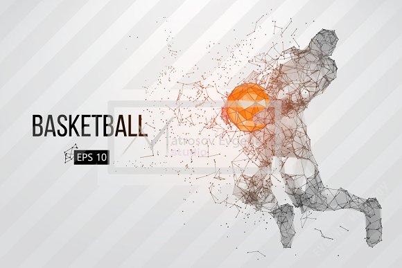 Silhouettes NBA Basketball Player