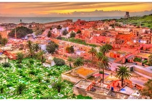 Cityscape of Safi, a city in western Morocco on the Atlantic Ocean