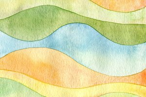 wave watercolor paint