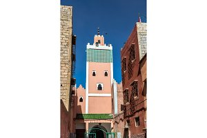 Buildings in Medina of Marrakesh, a UNESCO heritage site in Morocco