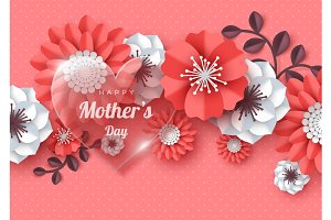 Happy Mother's day greeting card.