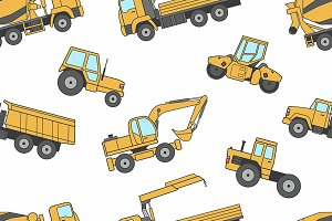 Construction machines pattern