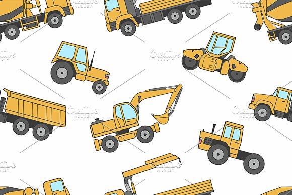 Construction Machines Pattern