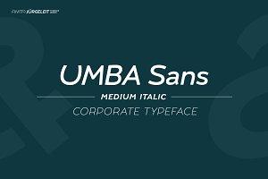 Umba Sans Medium Italic