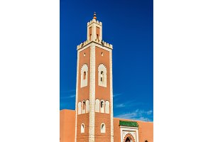El Abdellaoui Mosque in Kalaat M'Gouna, a town in Morocco