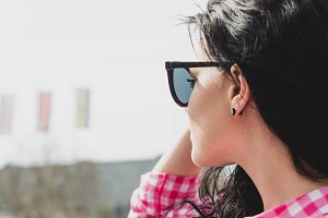 Pretty girl with sunglassess