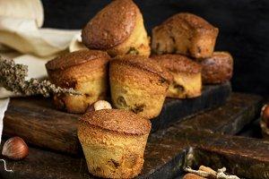 round baked muffins