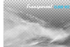 Clouds transparent vector
