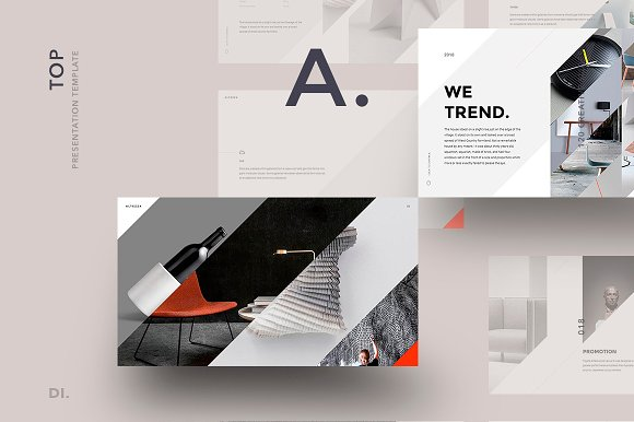 Altezza Powerpoint Template Presentation Templates Creative Market