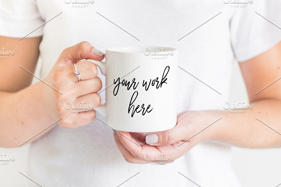 Free White Coffee Mug Mockup Photo