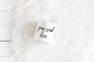 White Coffee Mug Mockup Minimalist