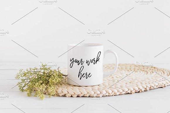 White Coffee Mug Mockup Stock Photo