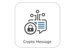Crypto Message Icon.