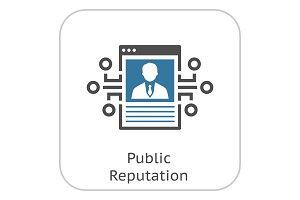 Public Reputation Icon.