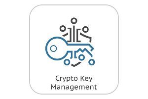 Crypto Key Management Icon.