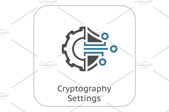 Cryptography Settings Icon