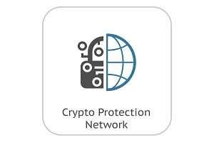 Crypto Protection Network Icon.