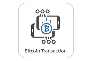 Bitcoin Transaction Icon.