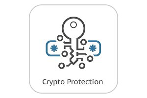 Crypto Protection Icon.