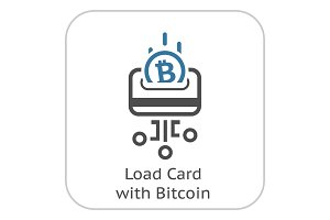 Load Card with Bitcoin Icon.