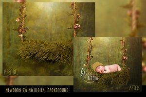 Digital Backdrop Newborn Baby Swing