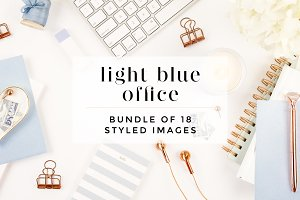 Light Blue Desktop + Mockup Bundle