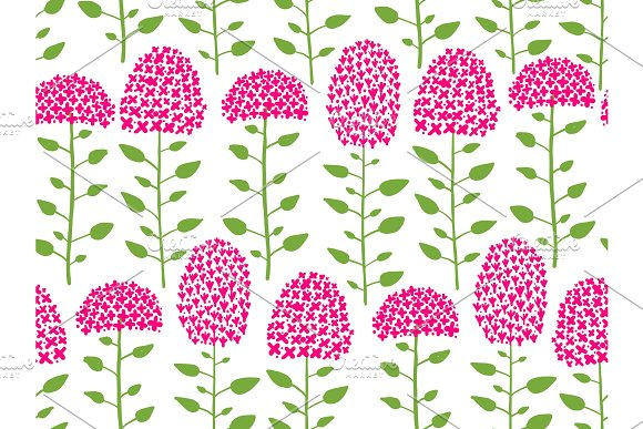 Floral Seamless Pattern Sketch For Your Design