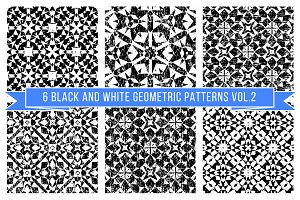 Set of black and white patterns 2