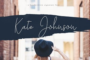 Kate Johnson - Signature Font