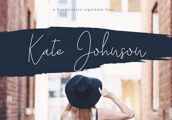 Kate Johnson Signature Font