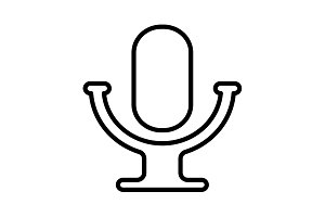 microphone line icon. vector